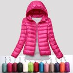 Ultra light snow waterproof warm sexy slim hooded stand Jackets
