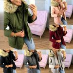 Basic Velvet  Hooded Coats Cotton Outwear Jackets