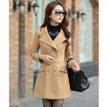 Long Wool Oversized Elegant Overcoat Double Breasted Coats