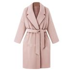 Elegant Lapel Wool TrenchLong Overcoat Outwear Coats