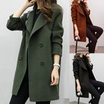 Thickening Fashion Double Breasted Artificial Slim Fit Coats