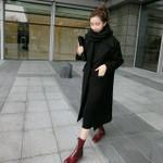 Fashion Slim Wool & Blend Solid Turn-down Streetwear Outwear Coats