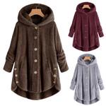 Cashmere woolen plus size Button Loose Sweater Coats