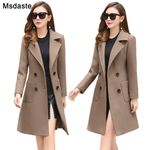 Woolen Long Slim Blend Outerwear Wear Overcoat Coats