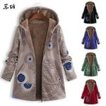 Warm Vintage Pockets Oversize Casual Outwear Fleece Coats