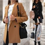 Blends Fashion Woolens Overcoat Camel Coats
