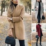 Trench Loose Warm Long Woolen Cardigan Elegant Coats