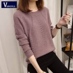 Pullover O-neck long-sleeved short paragraph bottoming shirt Sweaters