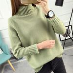 Knitted Turtleneck Casual Soft Fashion Slim Femme Elasticity Sweaters
