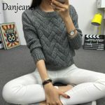 Vintage New Fashion O-neck Pullover Knit Basic Sweaters