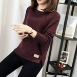 Fashion sexy o-neck Casual warm Long sleeve Knitted Sweaters