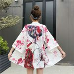 Cardigan Digital Printed Shirt Tops Casual Kimono
