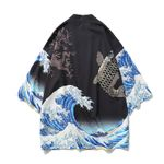 The Great Wave Off Traditional Orient Ethnic Cardigan Kimono
