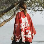 Traditional Casual Anime Printing Shirt Clothes StreetWear Kimono