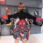 Cardigan shirt style blouse  streetwear Kimono
