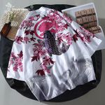 Cardigan Carp Print Loose Shirt Tops Casual Kimonos