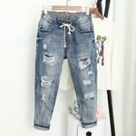 Fashion Loose Vintage High Waist Pantalones Jeans