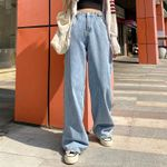 High Waist Wide Leg Denim Clothing Streetwear Vintage Quality Jeans