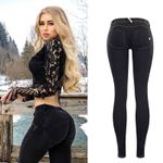 Low Waist Push Up Streetwear Skinny Pencil Pants Fashion Jeans
