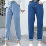 Slim Pencil Pants Vintage High Waist Casual Full Length Jeans