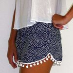 Polka Dot High Waist Tassel Casual Short Trousers Short Denim