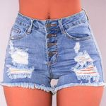 Hollow Out  Mini Sexy Women Hot Shorts Fitness Booty Short Denim