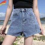 Hot Jean New Arrivals High Waist Pockets Style Loose Short Denim
