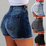 Fashion High Waisted New Push Up Skinny Slim Short Denim
