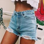 Fashion High Waisted Push Up Skinny Slim Short Denim