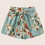 Print drawstring feminino Waist Bandage Casual  Shorts