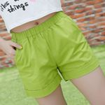 Candy color casual style plus size cotton femininos  Shorts