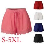 High Waist Plus Size Sports Rope Tie Sweatpants Fringe Trousers  Shorts