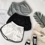 Simple Casual Patchwork Body Fitness Workout Elastic Skinny  Shorts