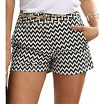 New Fashion Plaid Mid Waist Casual Pocket Straight Shorts