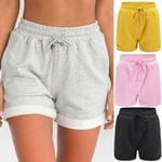 Hot Pants Casual Loose Beach High Waist Elastic  Shorts