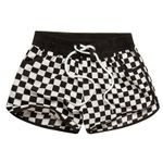 Feminino Plaid Print Couple Beachwear Casual wear  Shorts