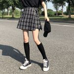 High Waist Skirts preppy plaid  Shorts