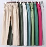 Cotton Casual big size Candy Color Trousers Ankle-length Pants