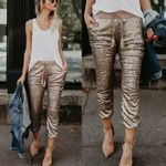 New Fashion Skinny Sequin Glitter Leggings Trousers Evening Pants
