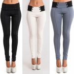 Sexy High Waist Solid Long Selling Bandage Slim Pants