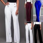 High Waist Flared Trousers Slim Loose Slacks Pants