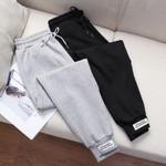 Loose sweatpants casual Cotton velvet pocket high waist Pants