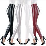 Leather Pants High Elastic Waist Not Crack Slim Leggings