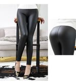High Waist Leather Light&Matt Thin&Thick Femme Fitness Leggings