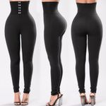New Style Fashion Solid Fitness Ankle Length Stretch Leggings