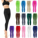 Popular Panty Shiny Fluorescent Casual Spandex Trousers Leggings