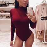 Cotton long sleeve sexy Neck warm clothes slim fit fashion Bodysuits