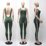 Pants Backless Summer Fitness Suit Sleeveless Jumpsuits