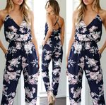 Clothes Bodycon Party Romper Trousers Backless V-neck Jumpsuits