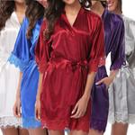 New Fashion Bathrobes Satin Robe Nightgown Sleepwear
